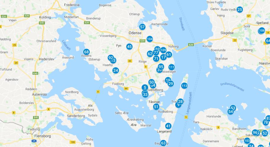 Bredbåndspuljen 2019 fyn oversigt kort