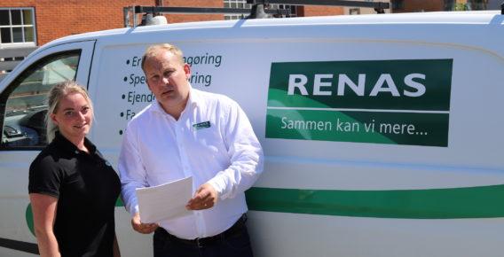 Renas-direktør Jacob Rasmussen og tilsynsførende Ninett Østergaard